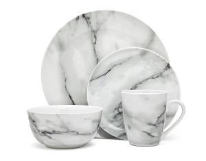 Godinger Silver Art Co Carrera Marble Dishes 16 pc