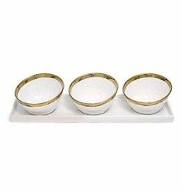 White/Gold Dip Set