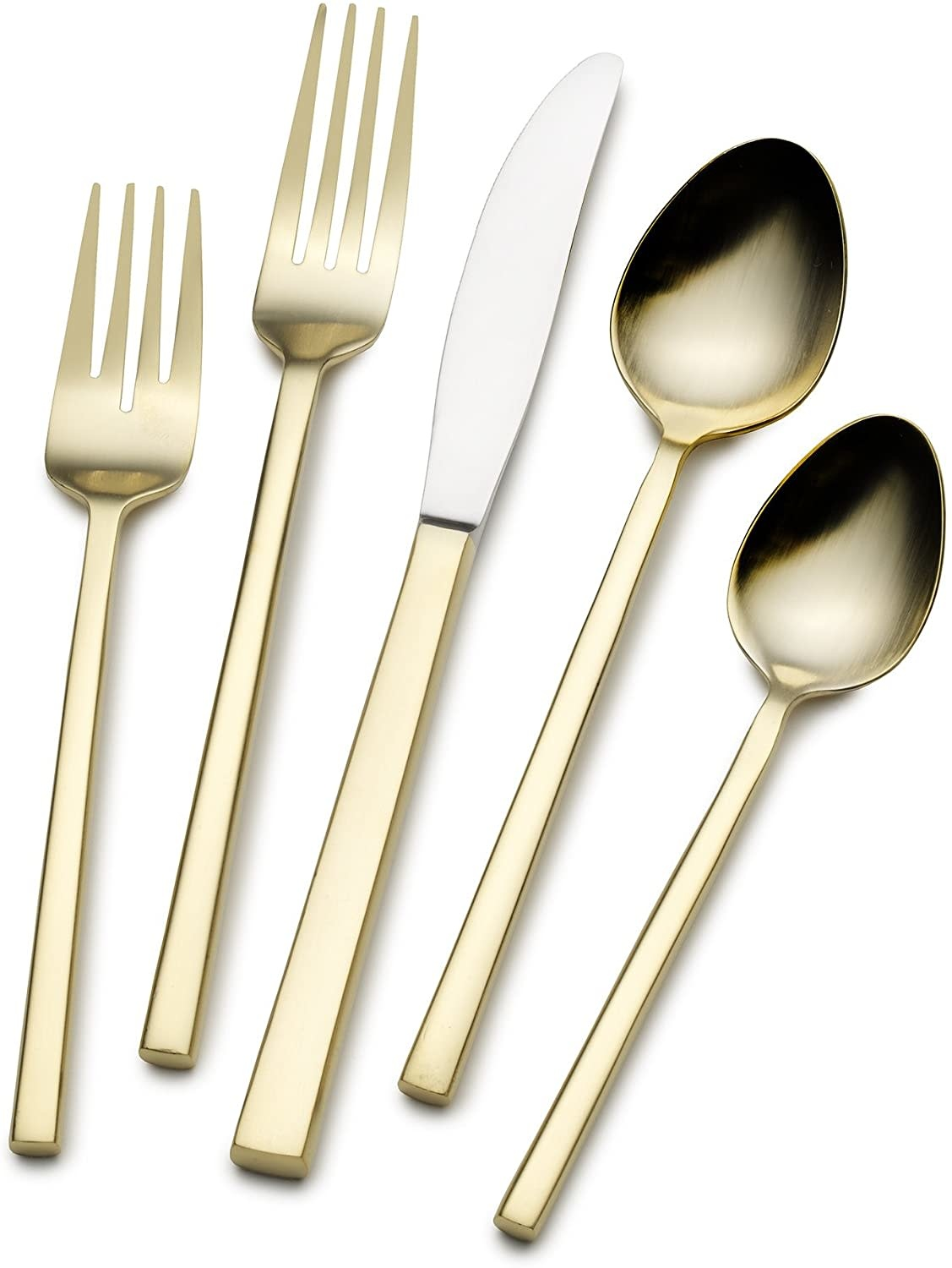 Kyoto Shiny Gold 20 pc Flatware Set