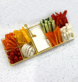 Silver Shimmer Lucite Simanim Divided Tray