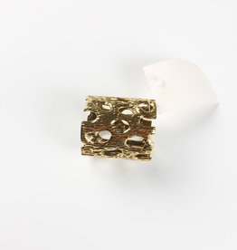 Gold Bark Napkin Ring