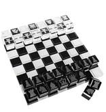Lucite Black & White Chess Set