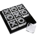 Waterdale Collection Lucite Black Tic Tac Toe Set