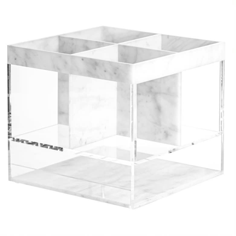 Waterdale Collection Square Marble Silverware Caddy