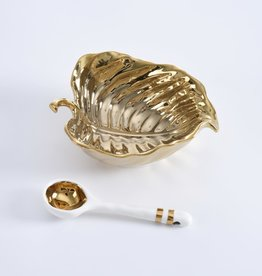 Gold Leaf Bowl and Spoon