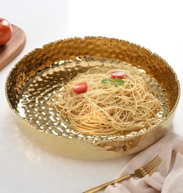 Millennium Gold Large Shallow Bowl
