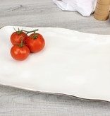 Handle White & Silver Platter