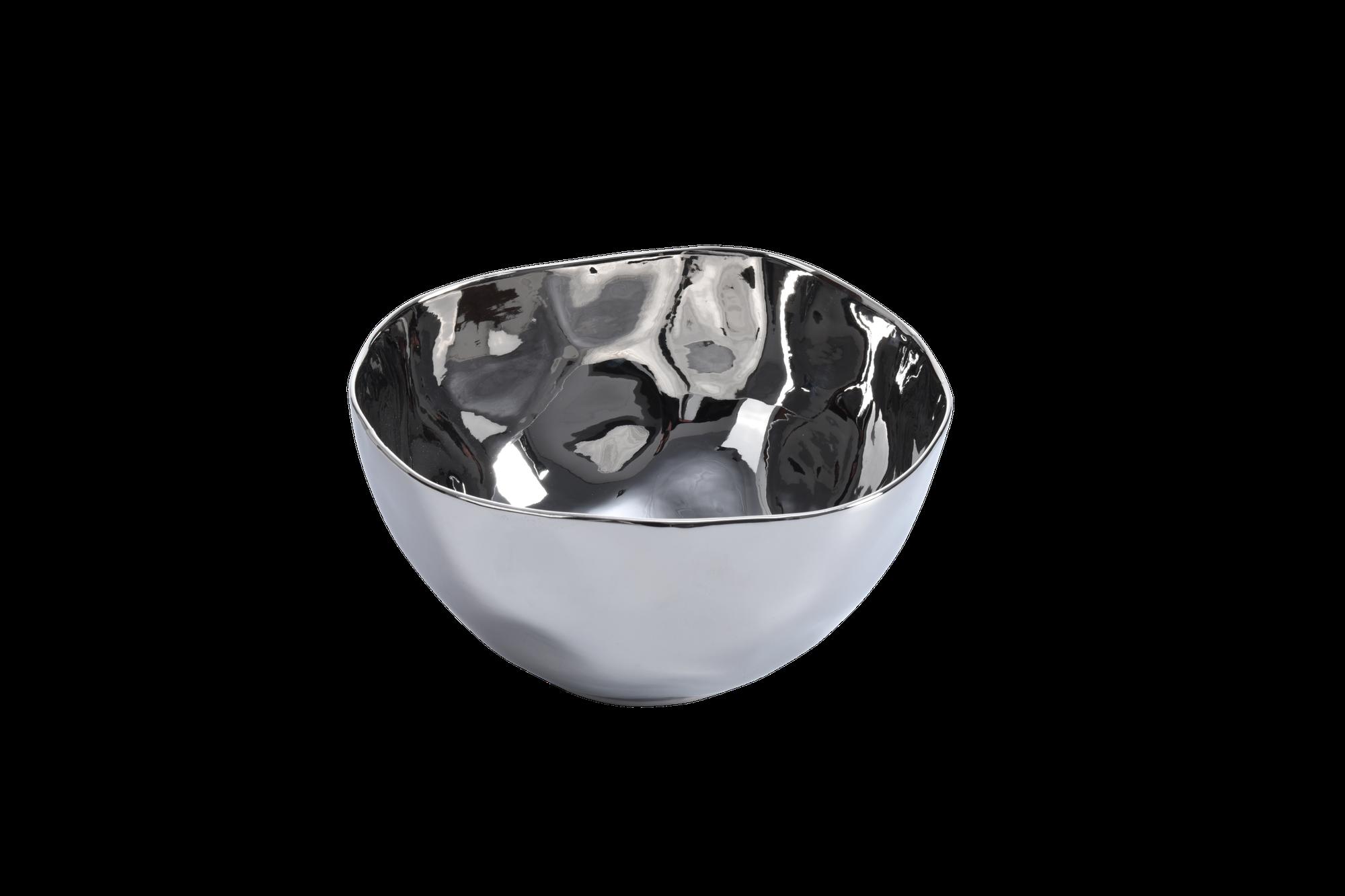 Simple Ceramic Silver Large Bowl