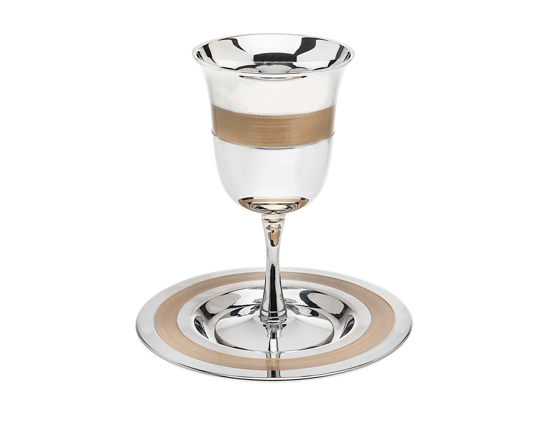 Gold Stripe Kiddush Cup