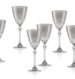 Fantasia Smoke White Wine Glass s/6
