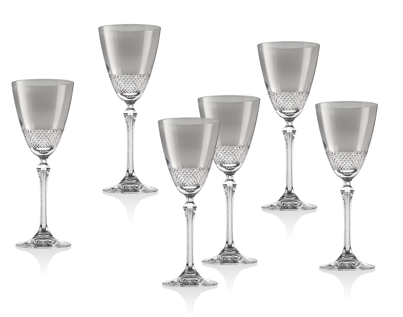 Fantasia Smoke White Wine Glass s/6