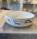 Round Marble Salad Bowl