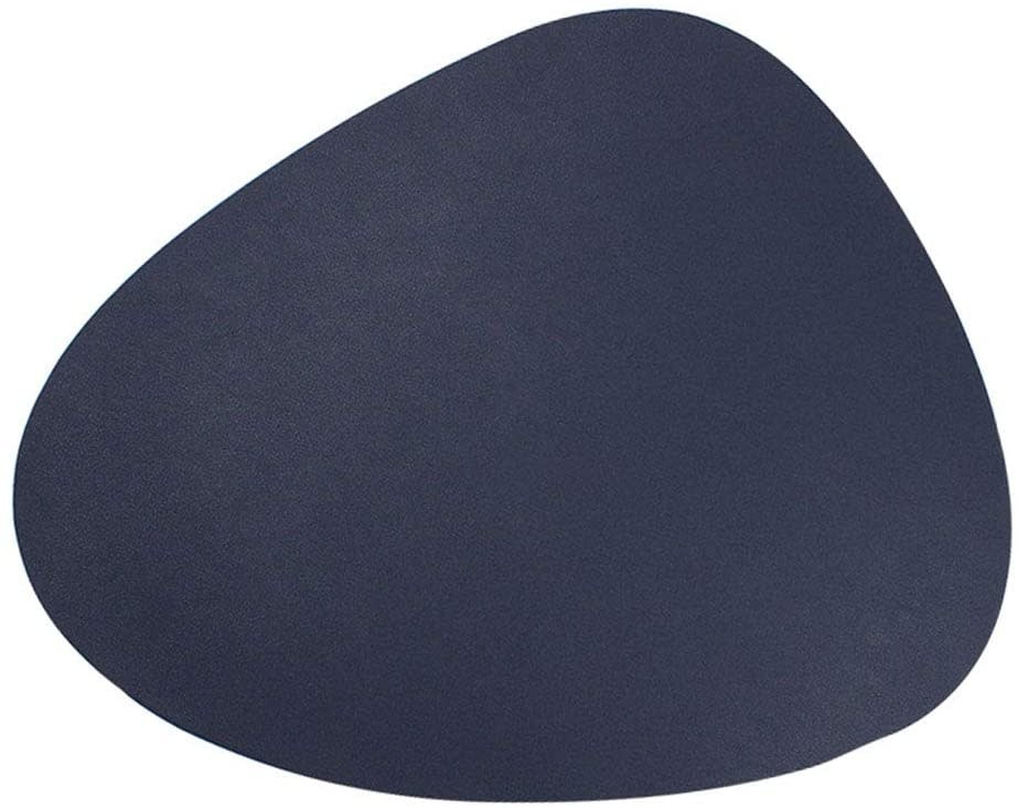 Blue & White Double Sided Leather Placemat