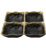 Black 4 Section Platter