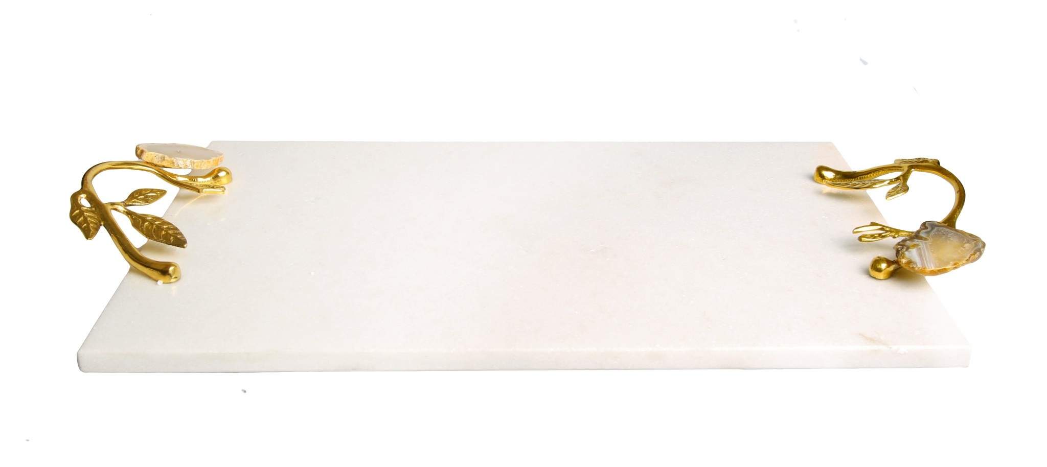 Marble Challah board with Agate Stone Handles