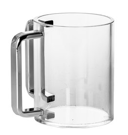 Lucite Wash Cup With Silver Handles