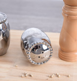 Beaded Ceramic Silver Salt & Pepper Shaker