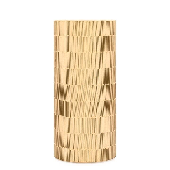 Bamboo Glass Mosaic Gold Vase