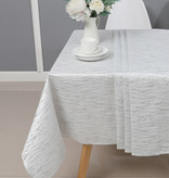 TC1317- 70 x 120 Jacquard  White/silver Tablecloth