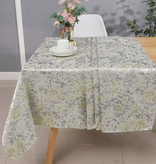 TC1319- 70 x 160 Jacquard  Silver/Beige Tablecloth
