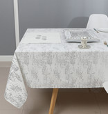 TC1403 - Mosaic White Silver Print 70 x 120 Tablecloth