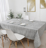 TC1204- 70 x 144 Jacquard Silver Lines Tablecloth
