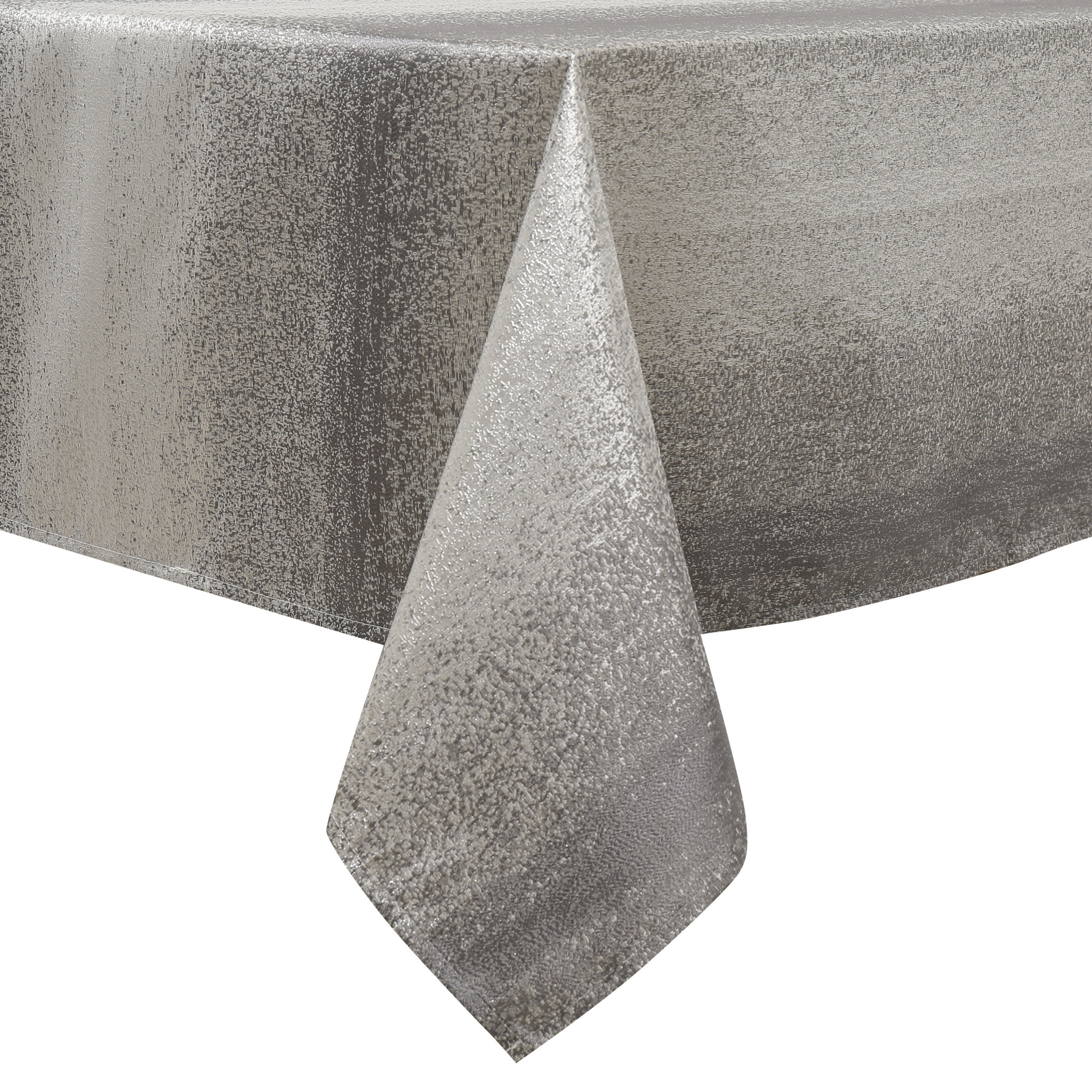 TC1202- 70 x 120 Jacquard Silver Tablecloth