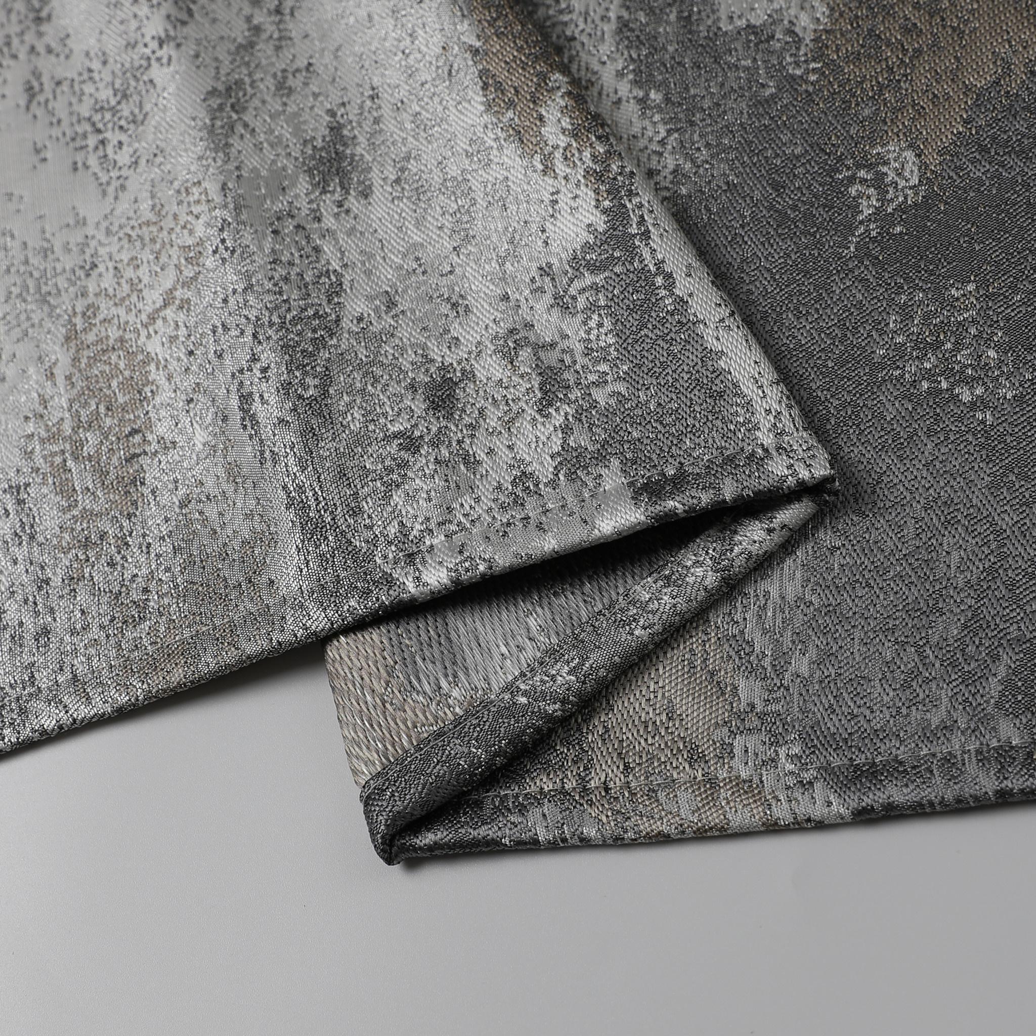 TC1200- 70 x 144 Jacquard Silver/Gold Tablecloth