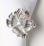 Silver Flower Napkin Ring