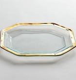 Annie Glass Gold Roman Antique Serving Platter