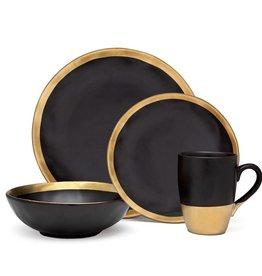 Godinger Gold Onyx Dinnerware set of 4