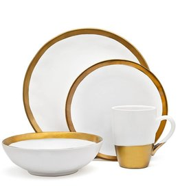 Godinger Silver Art Co Terre Gold Dinnerware set of 4