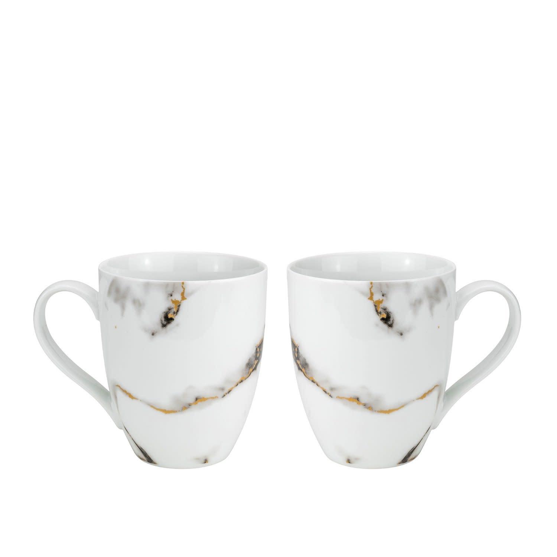Quarie Black Mugs S/2