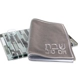 Lucite Mosaic Style Grey Challah Board