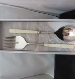Forest White Salad Serving Spoons