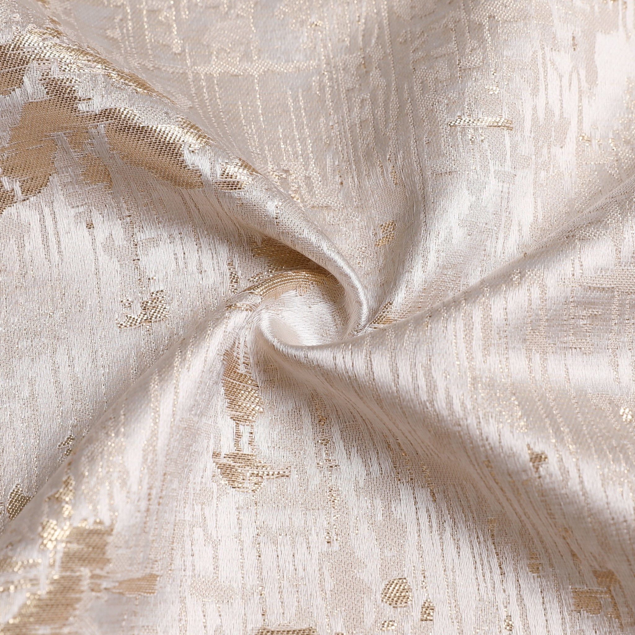 TC1312 70x 120 Jacquard White/Gold Tablecloth