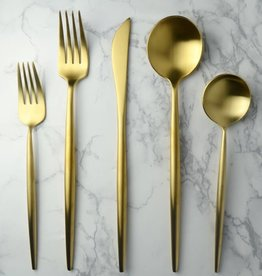 Harper Shiny Gold Service of 12 Flatware
