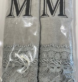 2 Charcoal Towels with Algerian Letter M