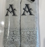 2 Charcoal Towels with Algerian Letter A