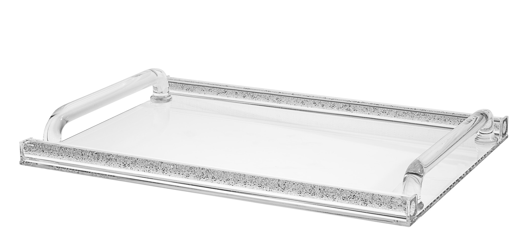 Large Crystal Tray with Stones