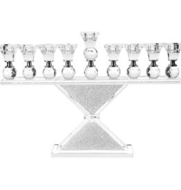 "Crystal Menorah 11""x 5"""