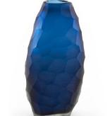 Glass Hammered Blue vase