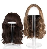 """Waterdale Collection Round Lucite Wig Head - 15"""""""