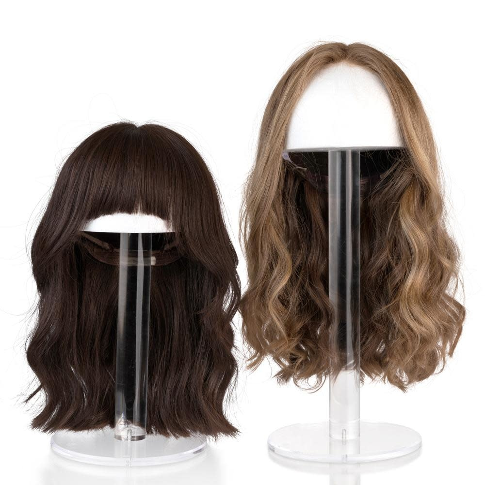 """Waterdale Collection Round Lucite Wig Head - 19"""""""