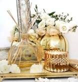 Reed Diffuser- White Flower Gold Glitter 340 ML