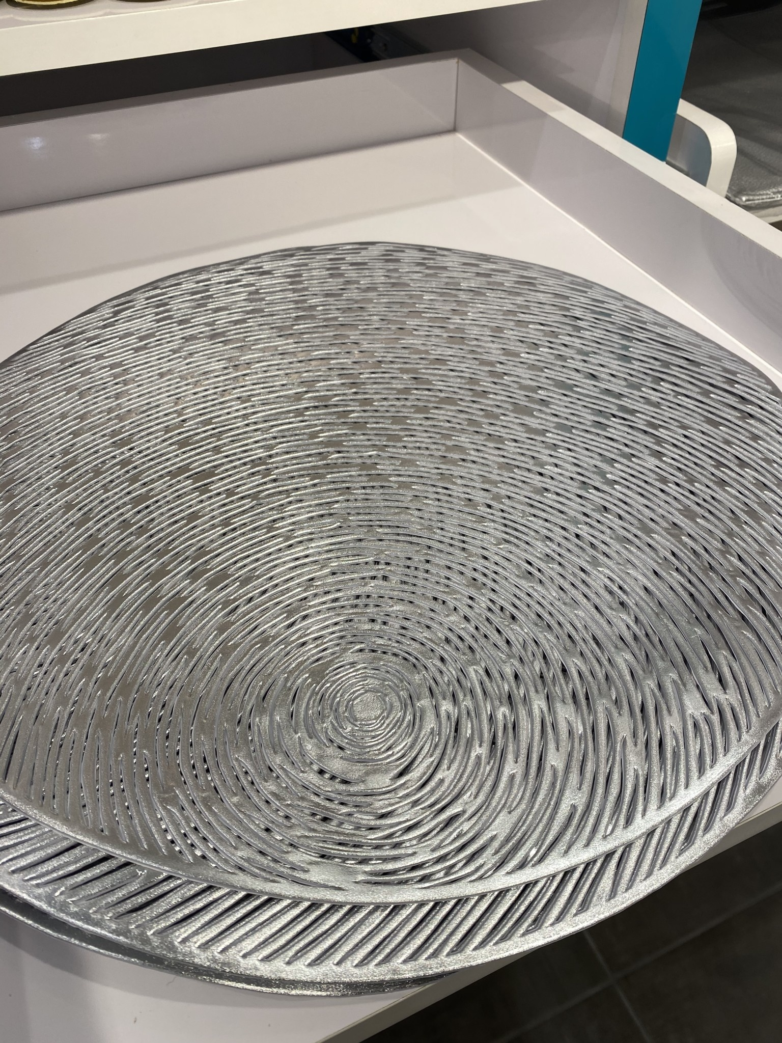 Moon Lines Silver Placemat