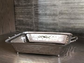 Hammered Silver 9x13 Pan Holder