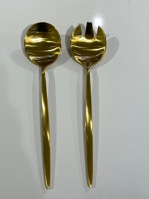 Tai Chi Gold Matte Serving Spoons