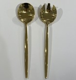 Tai Chi Gold Shiny Serving Spoons