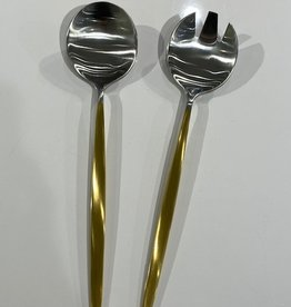 Tai Chi 1/2 Gold Matte Serving Spoons